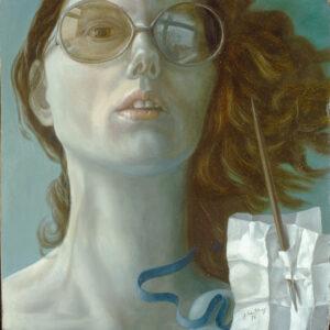 Selbstportrait mit Brille